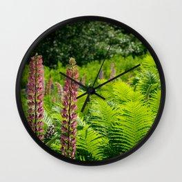 Pimk Lupins Wall Clock