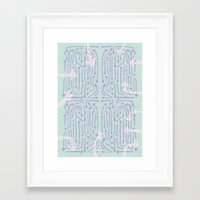 cycle Framed Art Prints featuring Cycle by Lillian Cassidy