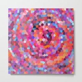 Geometric Abstract Spiral Metal Print