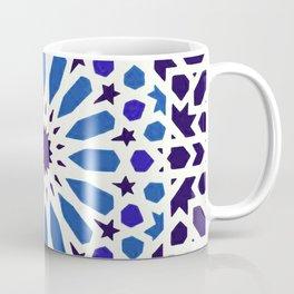 V19 Epic Light Blue Traditional Moroccan Pattern Design . Coffee Mug