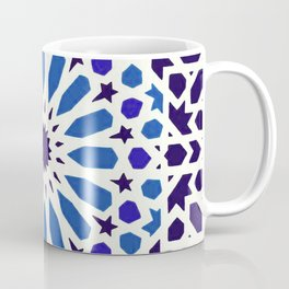 V19 Epic Light Blue Traditional Moroccan Pattern Design . Coffee Mug