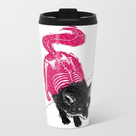 Stripped Fox Metal Travel Mug