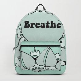 Breathe Yoga Boho Mandala Light Blue Green Backpack