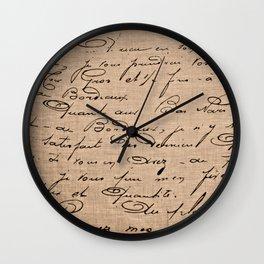 La Maison Est Où Le Coeur Est - French Provincial Print Wall Clock