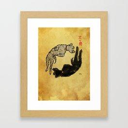 Isla de perros Framed Art Print