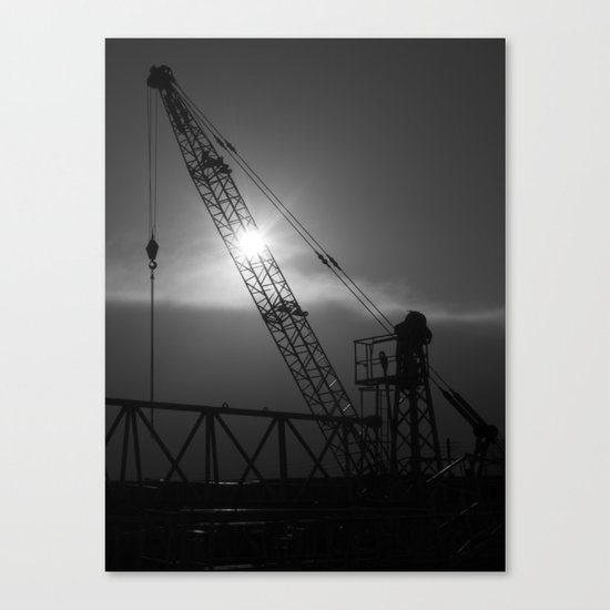 crane spotting... Canvas Print