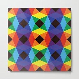 Rainbow Octagons Metal Print