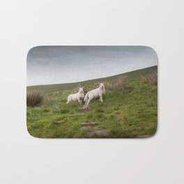 Welsh lambs in Brecon Bath Mat