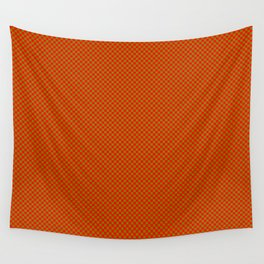 Red and mustard squares Wall Tapestry