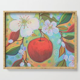 Apple Among The Blossoms Serving Tray