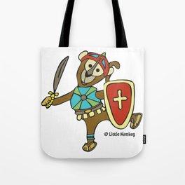 © Litte Monkey wears Full Armor of God Tote Bag