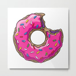 You can't buy happiness, but you can buy DONUTS. Metal Print