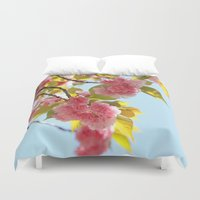 sakura Duvet Covers featuring SAKURA by Norie