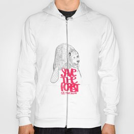save the planet, eat more beaver Hoody