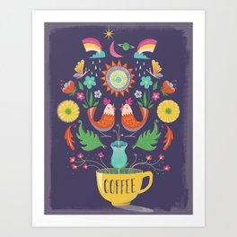 Breakfast Nook Wall Art–Dark Art Print