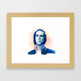 Nick Cave portrait Framed Art Print