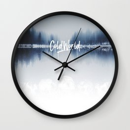 Cold Word Wall Clock