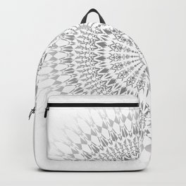 Light Grey White Mandala Backpack