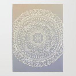 Lavender Cream Mandala Poster