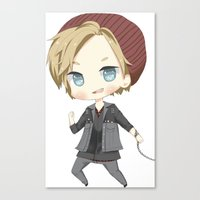 pewdiepie Canvas Prints featuring Pewdiepie Infamous: Second Son by PumpkinElite