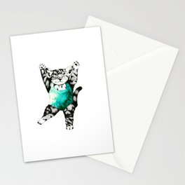 Exercise kitty cat Stationery Cards