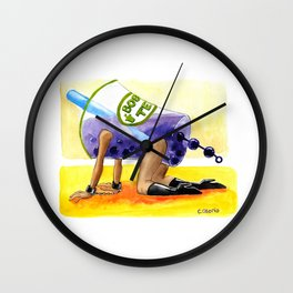Boba Milk Tea Wall Clock