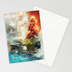 The 4 elements of the Zodiac Stationery Cards