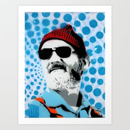 Steve Zissou The Life Aquatic Art Print