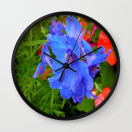Feeling Blue Wall Clock