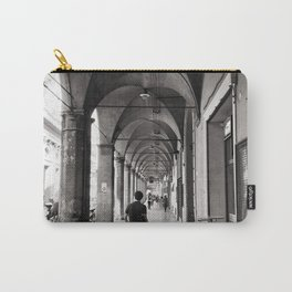 Black and white Bologna Street Photography Carry-All Pouch
