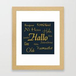 Hallo Framed Art Print