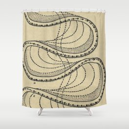 River Formation Diagram Shower Curtain