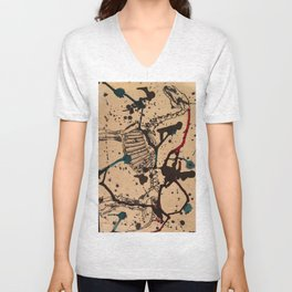 Horse Skeleton Unisex V-Neck