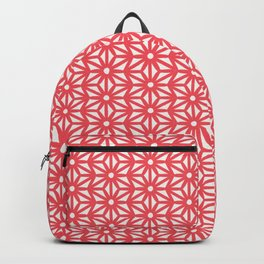 Asanoha Pattern - Coral Backpack