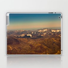 Mountains, snow and sky  from the air Laptop & iPad Skin