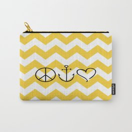 Peace Hope Love Chevron Carry-All Pouch
