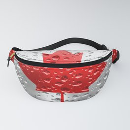 Flag of Canada - Raindrops Fanny Pack