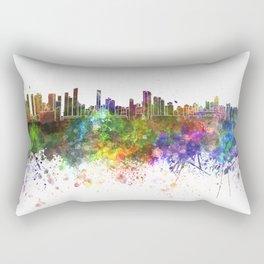 Belem skyline in watercolor background Rectangular Pillow