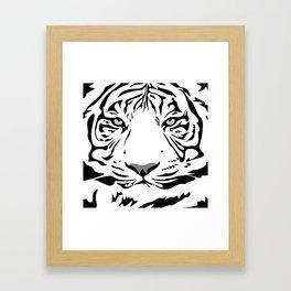 tiger pattern animal flat Framed Art Print