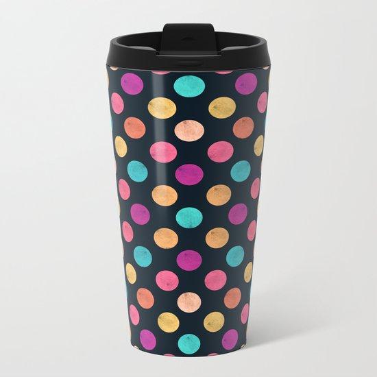 Watercolor Dots Pattern VI Metal Travel Mug