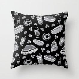 Skyline Chili Pattern Night Throw Pillow