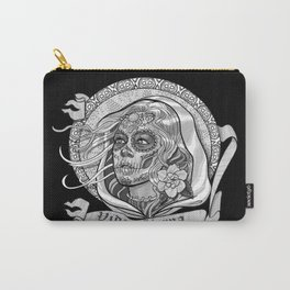 Black and White Catrina (Day of the Dead) Carry-All Pouch