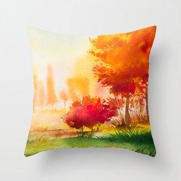 Autumn scenery #4 Throw Pillow