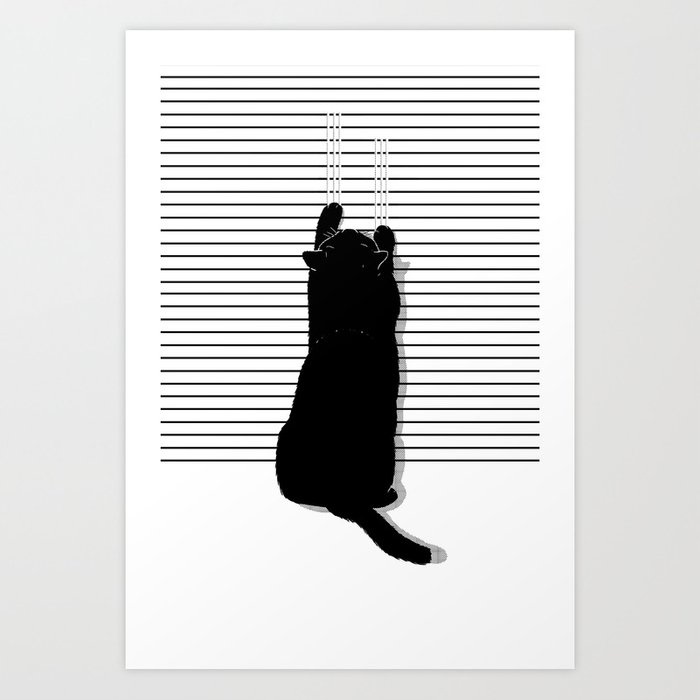 Cat Scratch Art Print