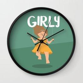 Girly - Jump Rope princess Wall Clock