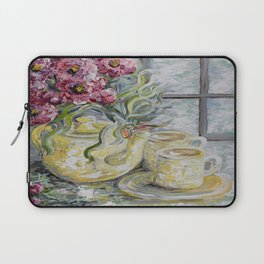 Morning Tea for Two Laptop Sleeve