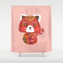 Jessica The Cute Red Panda Shower Curtain