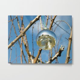 Silver Ball Metal Print
