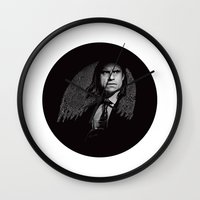 gangster Wall Clocks featuring Gangster Engraving by George Peters