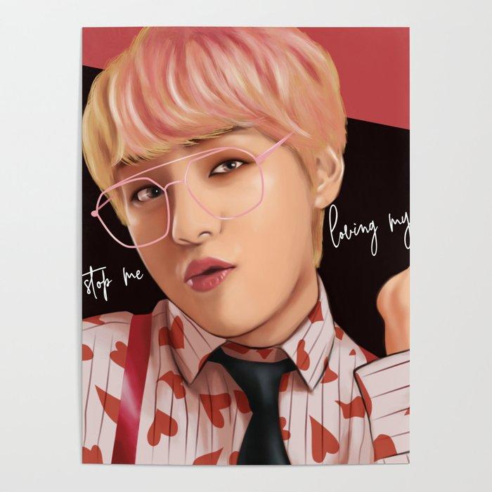 BTS V IDOL FANART Poster By Moritajung